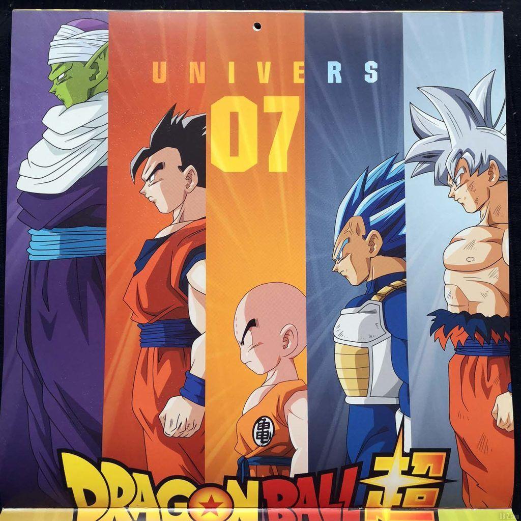 Calendrier Dragon Ball Super 2020 Poster 2.1