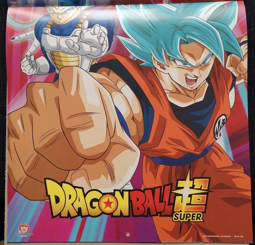 Calendrier Dragon Ball Super 2020 Poster 3.2
