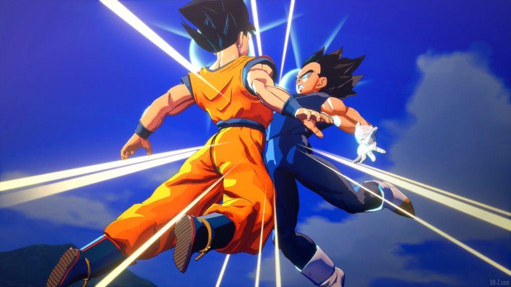Dragon Ball Z Kakarot Goku et Vegeta fusionnent