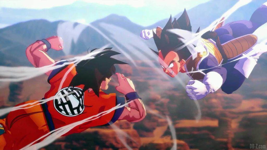 DBZ Kakarot Goku vs vegeta 01 1