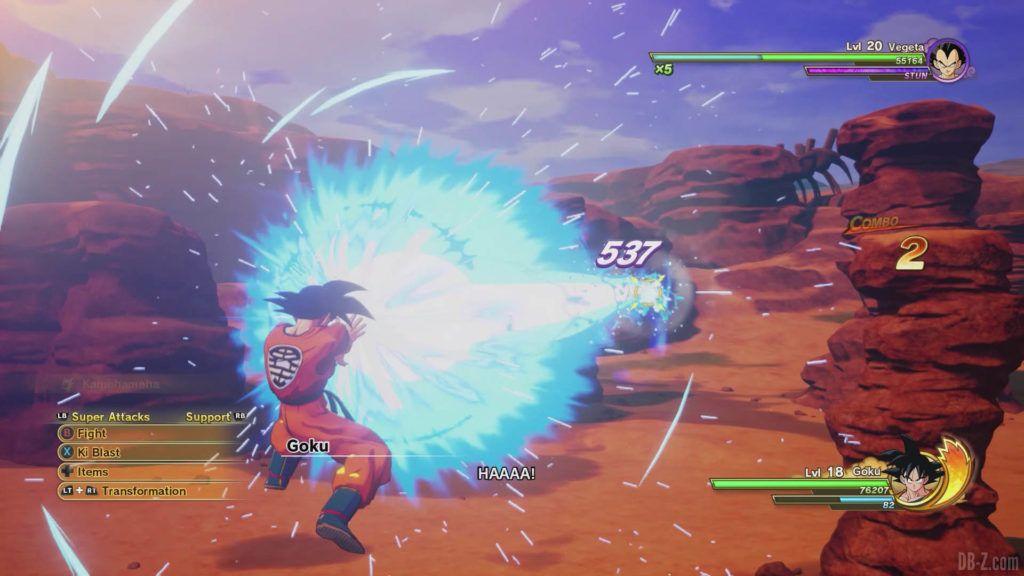 DBZ Kakarot Goku vs vegeta 03