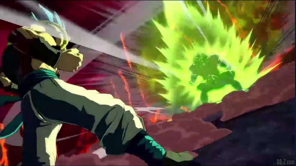 Dragon Ball FighterZ Dramatic Finish Gogeta SSGSS vs Broly DBS 03