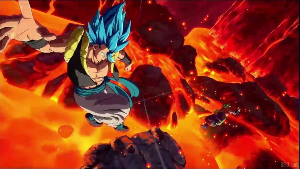 Dragon Ball FighterZ Dramatic Finish Gogeta SSGSS vs Broly DBS 07