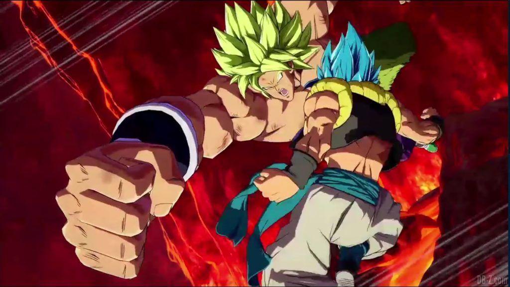 Dragon Ball FighterZ Dramatic Finish Gogeta SSGSS vs Broly DBS 09