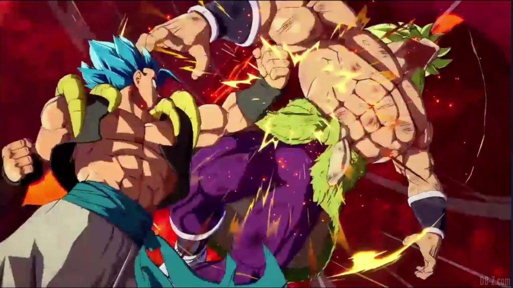 Dragon Ball FighterZ Dramatic Finish Gogeta SSGSS vs Broly DBS 11