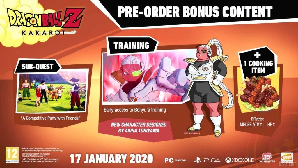 Dragon Ball Z Kakarot Bonus de Précommande