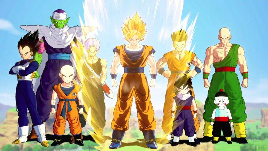 Dragon Ball Z Kakarot Opening Goku Super Saiyan et la Z Team