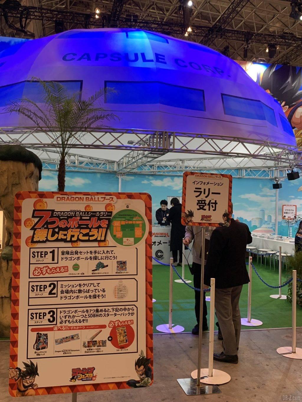 Point daccueil du rallye des 7 Dragon Balls Jump Festa 2020