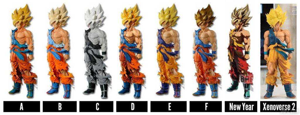Toutes les Super Master Stars Piece The Son Goku