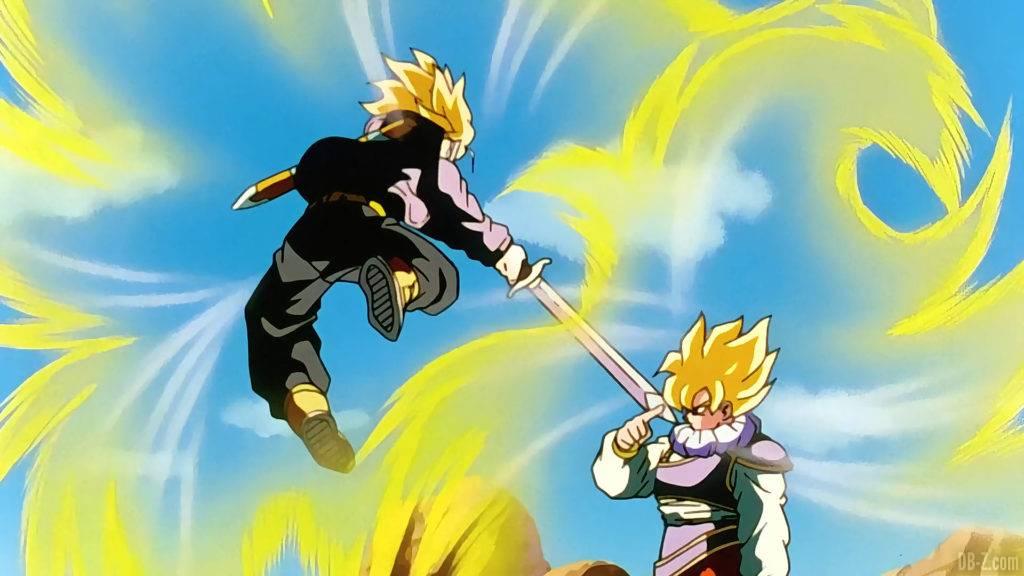 Trunks vs Goku Yardrat
