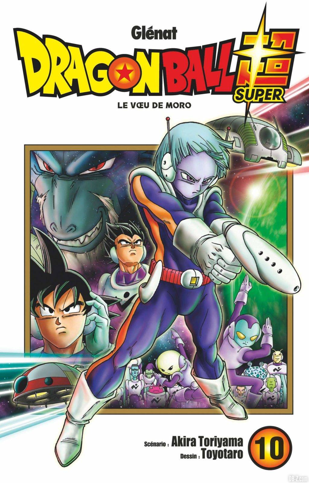 Couverture du tome 10 de Dragon Ball Super VF
