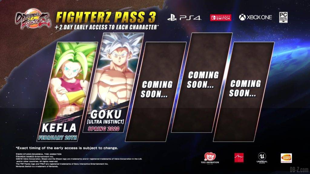 Dragon Ball FighterZ Season 3 Planning Goku UI Kefla