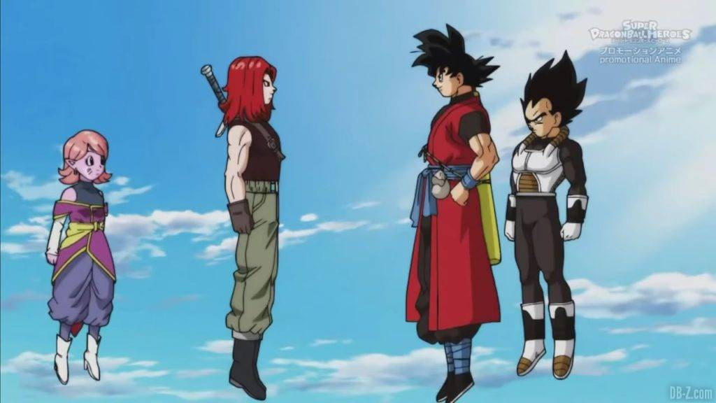 Super Dragon Ball Heroes Mechikabura vs SSJ4 Vegito SSG Trunks Special Episode「HD」0102952020 02 23 09 40 39