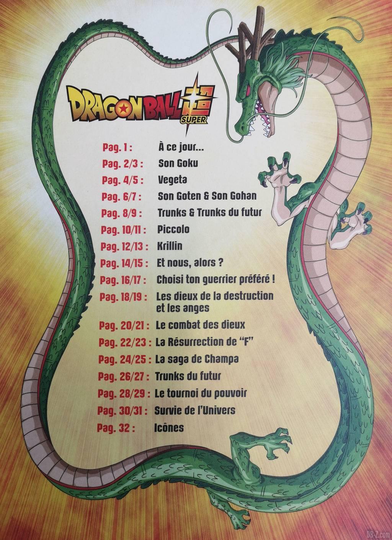 Album Panini Dragon Ball Super 2 Sommaire