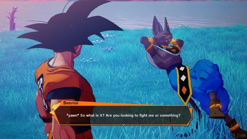 Dragon Ball Z Kakarot DBZK VJUMP Beerus dialogue
