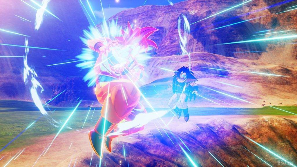 Dragon Ball Z Kakarot DBZK VJUMP Goku SSG VS Raditz