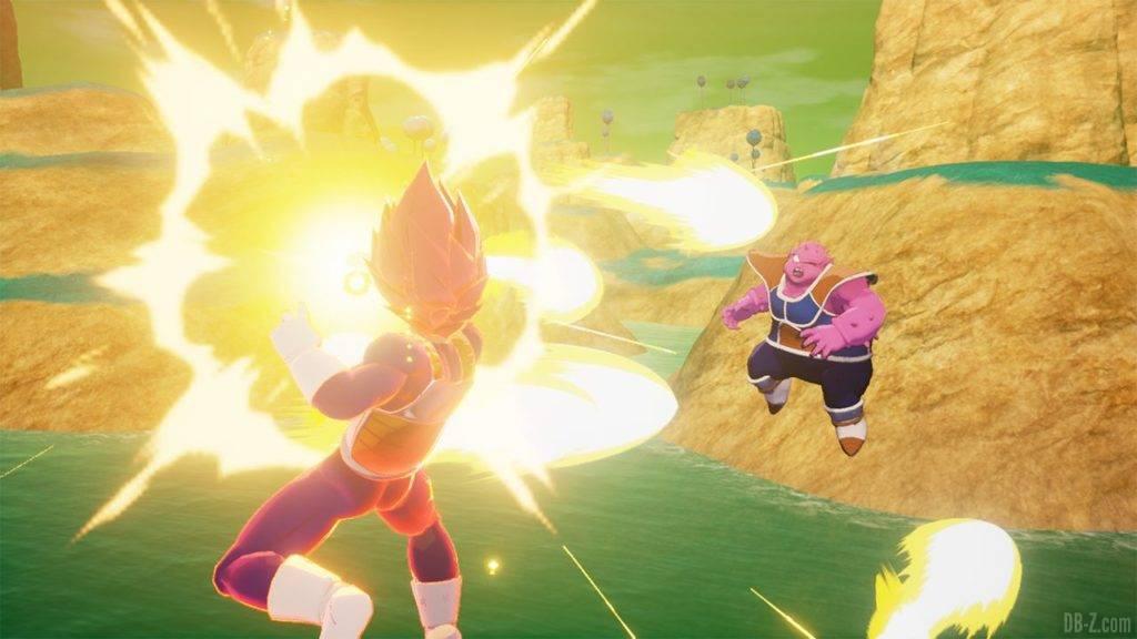 Dragon Ball Z Kakarot DBZK VJUMP Vegeta SSG VS Dodoria