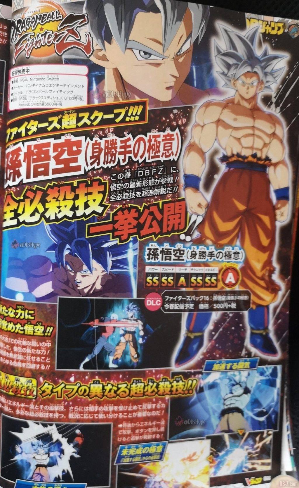 Goku Ultra Instinct Dragon Ball FighterZ Details