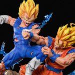Statue Goku Super Saiyan 2 vs Majin Vegeta en résine Xceed × F4 Studio