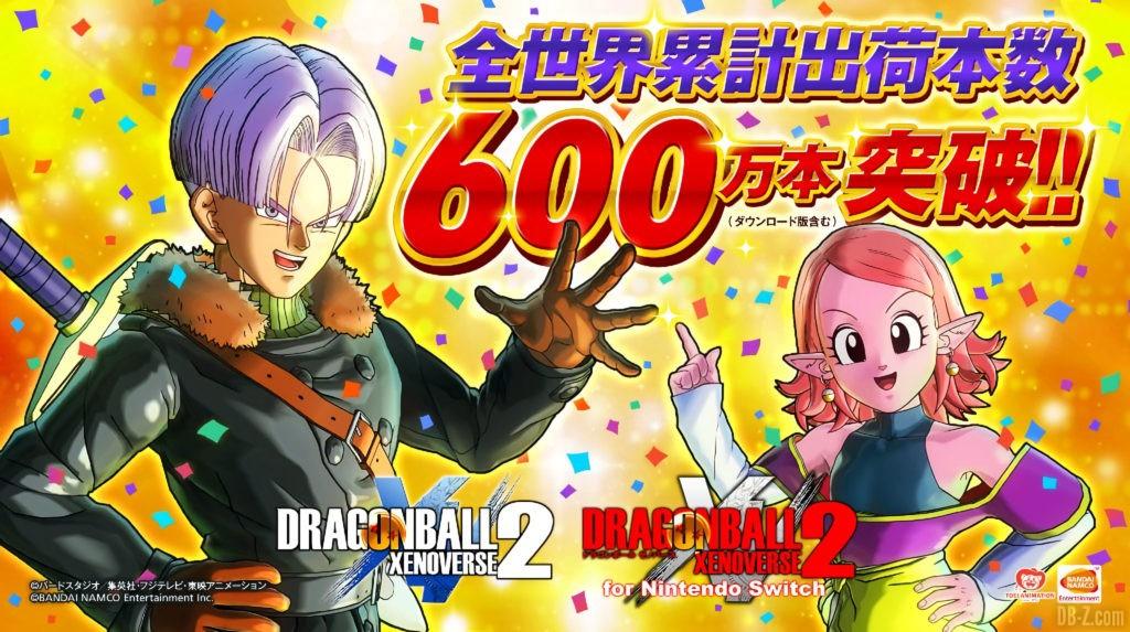 Dragon Ball Xenoverse 2 6 millions