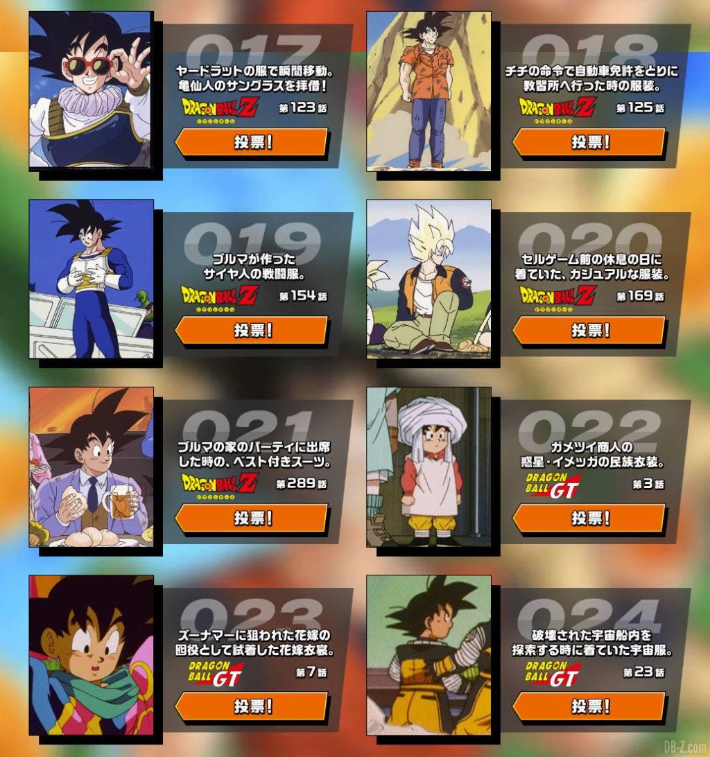 Vote Kakarot Collection Goku Day 2020 partie 3