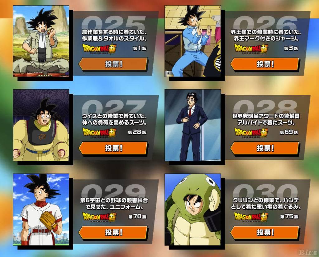 Vote Kakarot Collection Goku Day 2020 partie 4