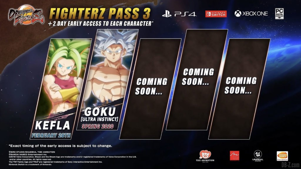 FighterZ Pass 3 Dragon Ball FighterZ
