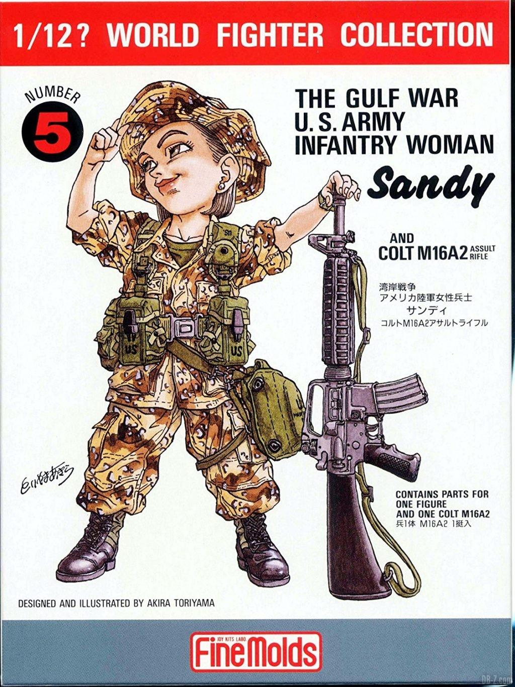 Akira Toriyama illustration figurine The Gulf War US Army Infantry Woman