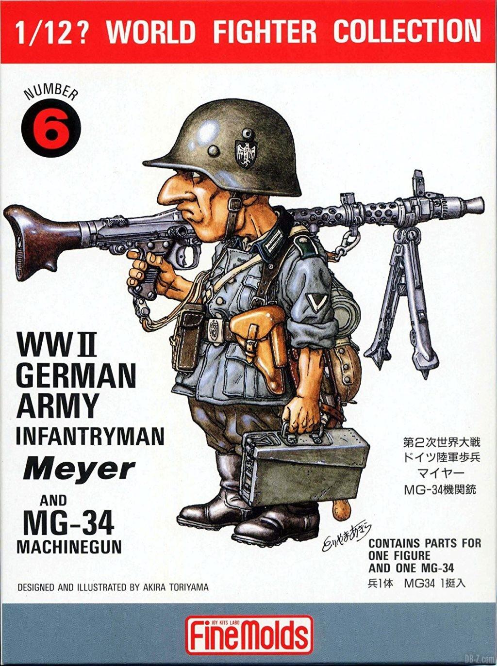 Akira Toriyama illustration figurine WWI German Army Infantryman