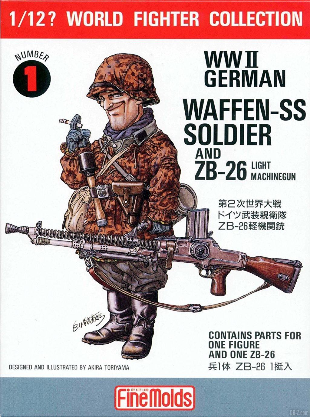 Akira Toriyama illustration figurine WWII German