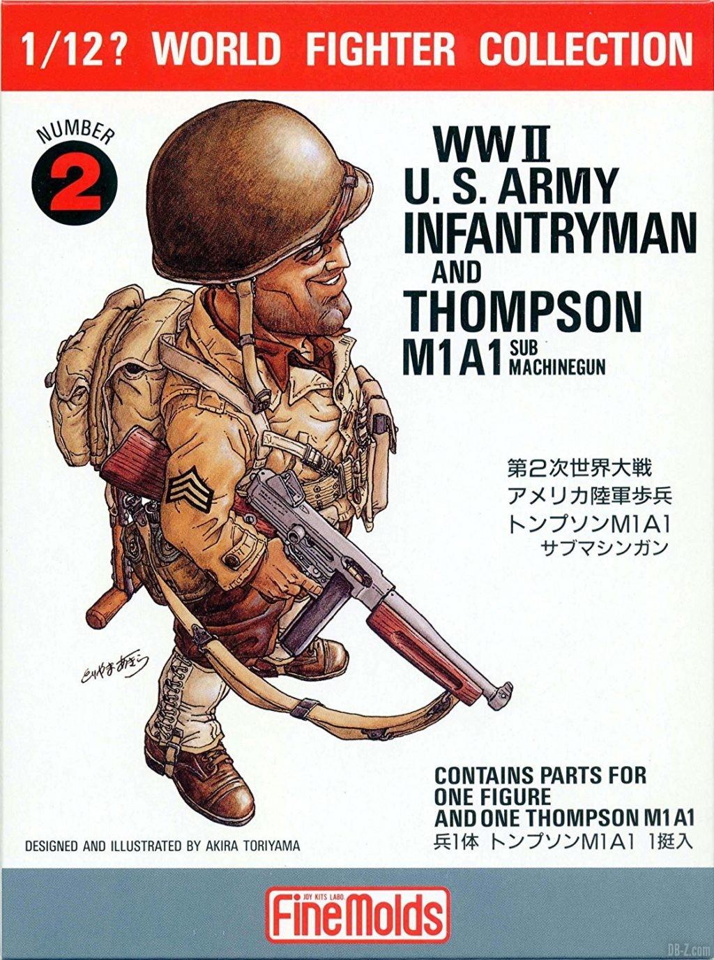 Akira Toriyama illustration figurine WWII US Army