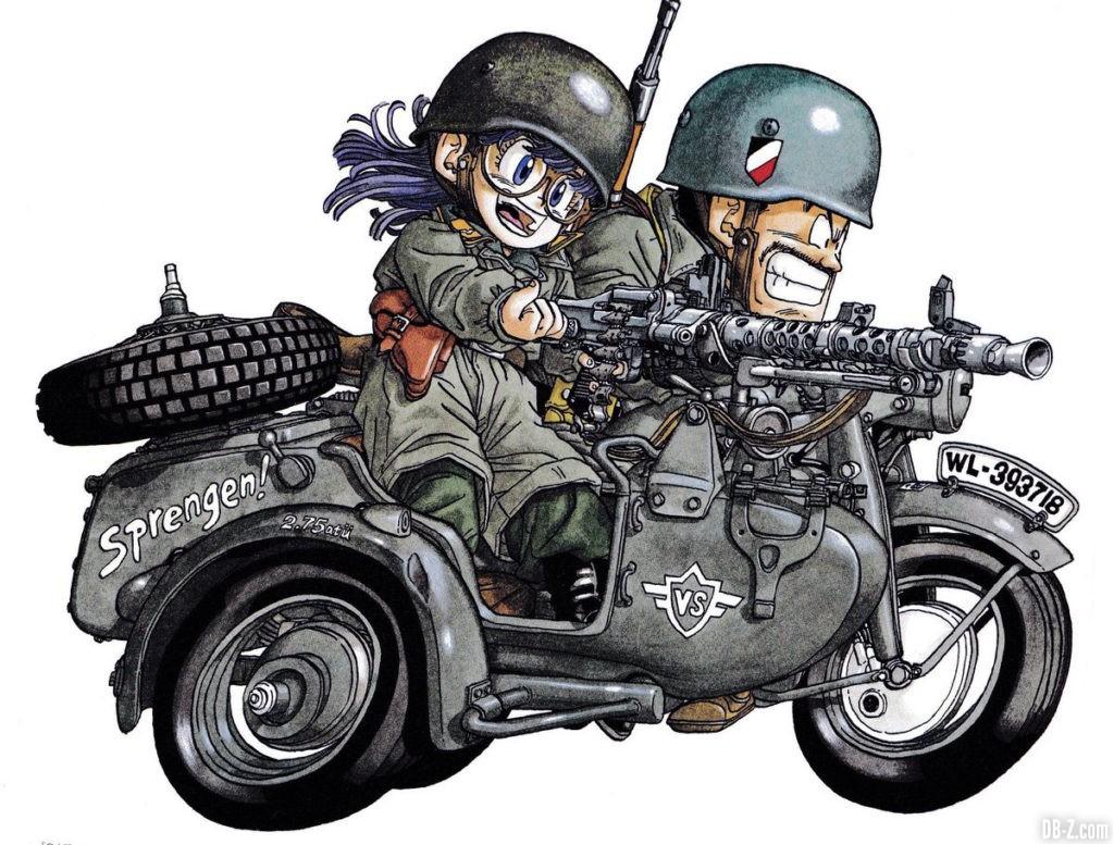 Arale Dr Slump militaire moto