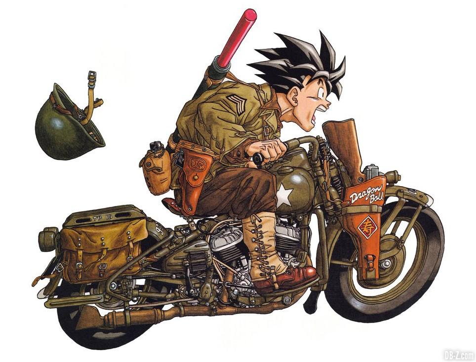 Goku militaire moto