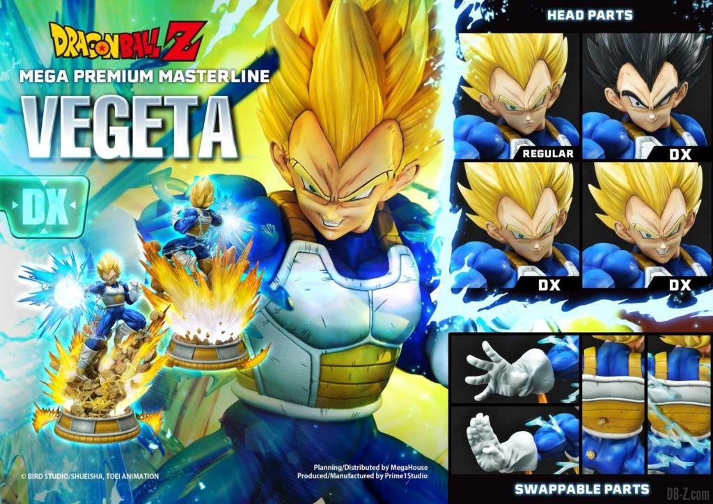 Statue Mega Premium Masterline Dragon Ball Z Super Saiyan Vegeta DX 05