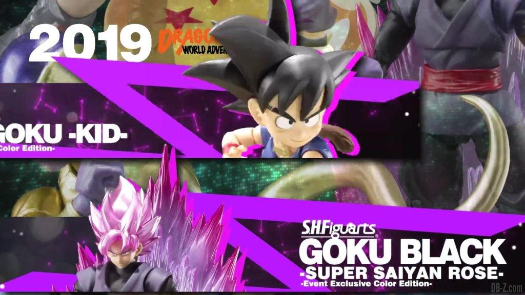 Tamashii Nations Event Exclusives 11 SHFiguarts Goku Enfant et Goku Black Super Saiyan Rose Event Exclusive Color Edition