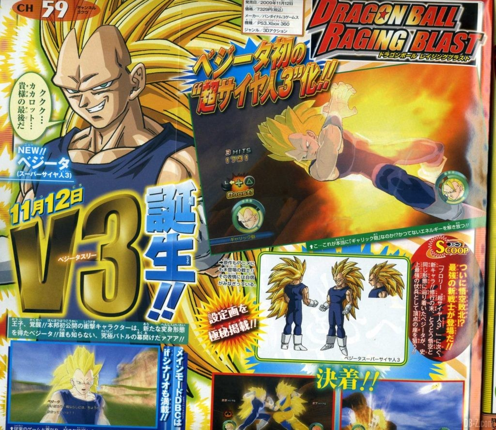 Vegeta Super Saiyan 3 Dragon Ball Raging Blast