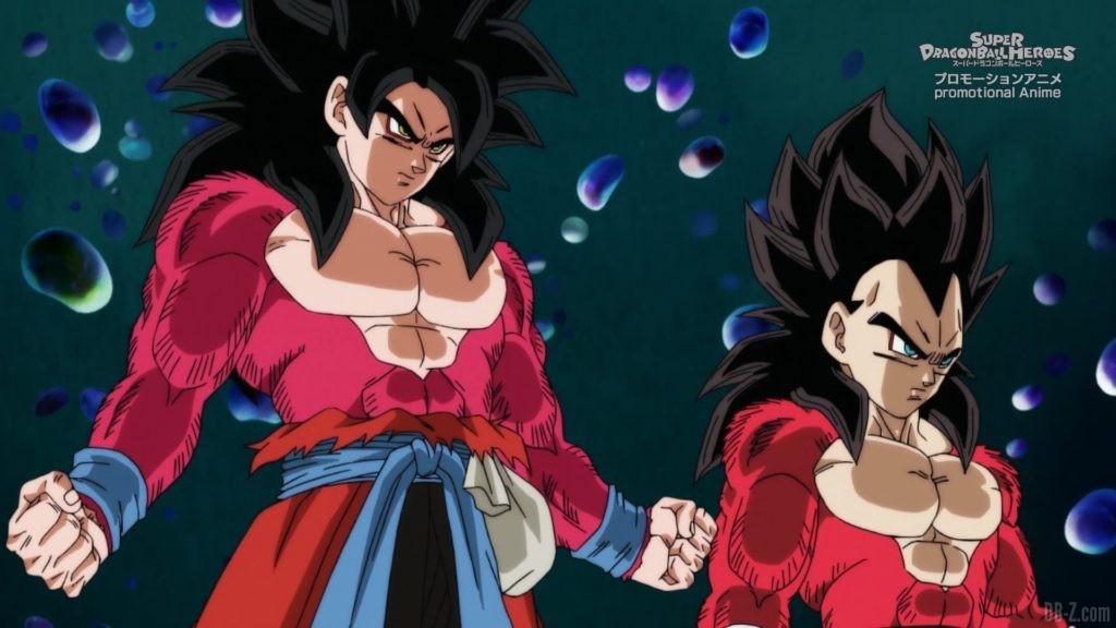 SDBH Big Bang Mission Episode 6 2020 08 27 Image 26 Super Saiyan 4 Goku et Vegeta