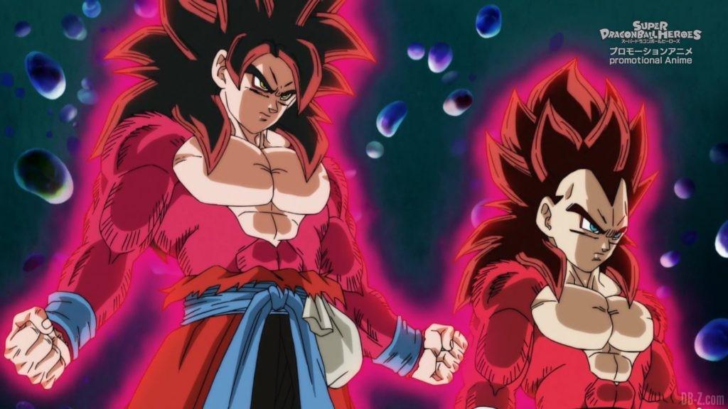 SDBH Big Bang Mission Episode 6 2020 08 27 Image 27 Super Saiyan 4 Goku et Vegeta
