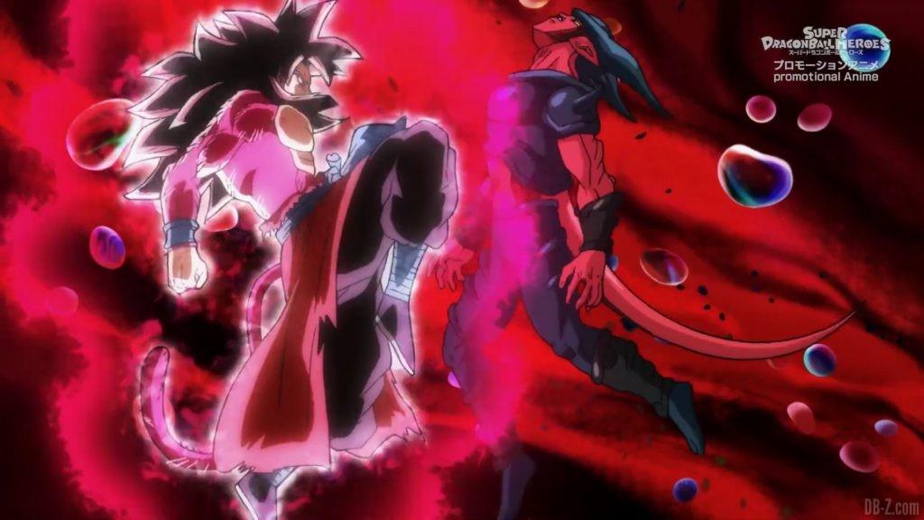 SDBH Big Bang Mission Episode 6 2020 08 27 Image 36 Super Full Power Saiyan 4 Goku et Vegeta