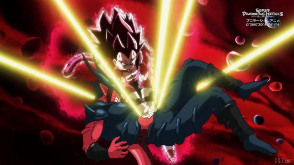 SDBH Big Bang Mission Episode 6 2020 08 27 Image 38 Super Full Power Saiyan 4 Goku et Vegeta