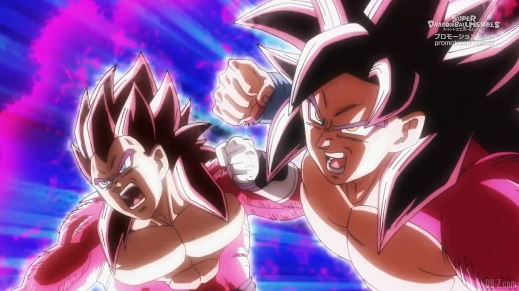 SDBH Big Bang Mission Episode 6 2020 08 27 Image 43 Super Full Power Saiyan 4 Goku et Vegeta
