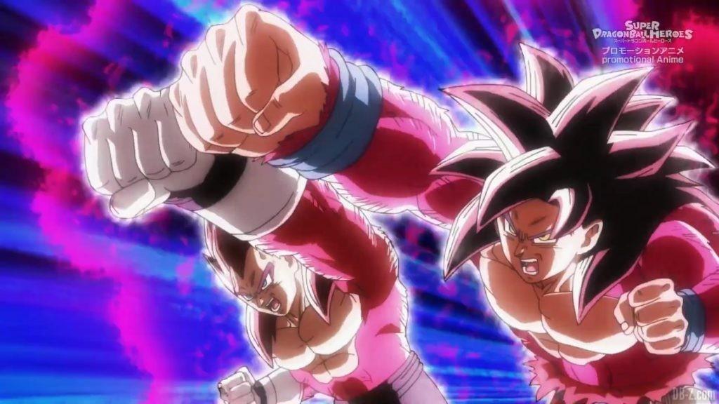 SDBH Big Bang Mission Episode 6 2020 08 27 Image 44 Super Full Power Saiyan 4 Goku et Vegeta