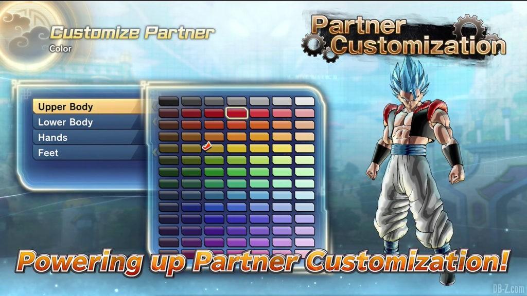 Xenoverse 2 Personnalisation des partenaires 1
