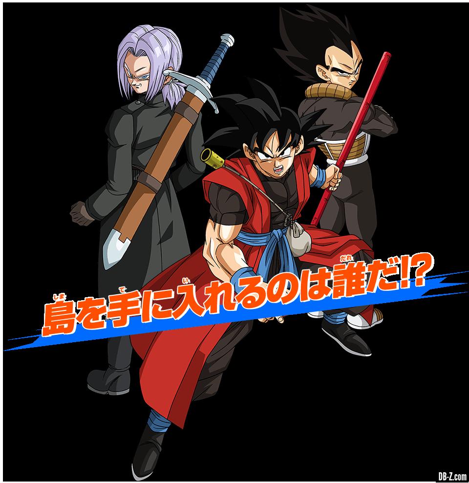 Goku-Xeno-Trunks-Xeno-Vegeta-Xeno