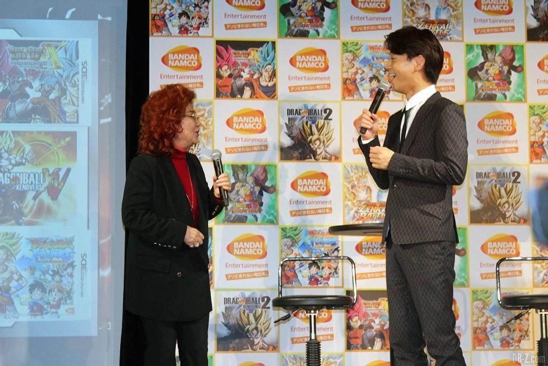 Masako Nozawa et Kiyoshi Hikawa chez Bandai Namco