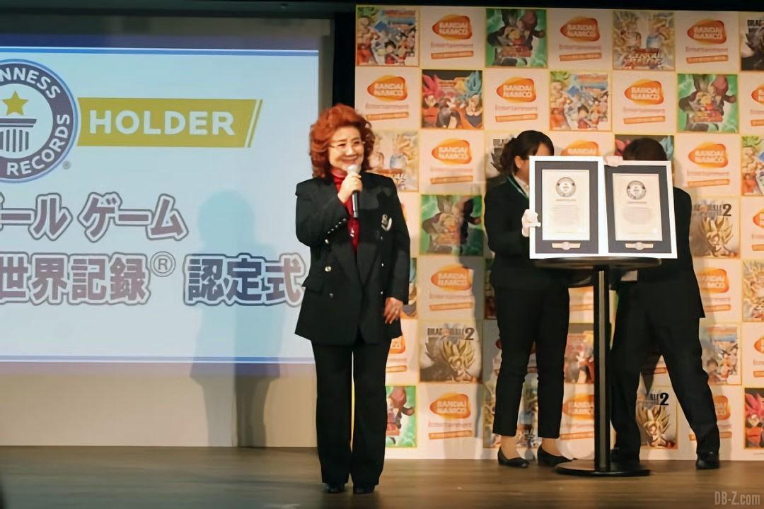 Masako Nozawa va recevoir ses records du monde
