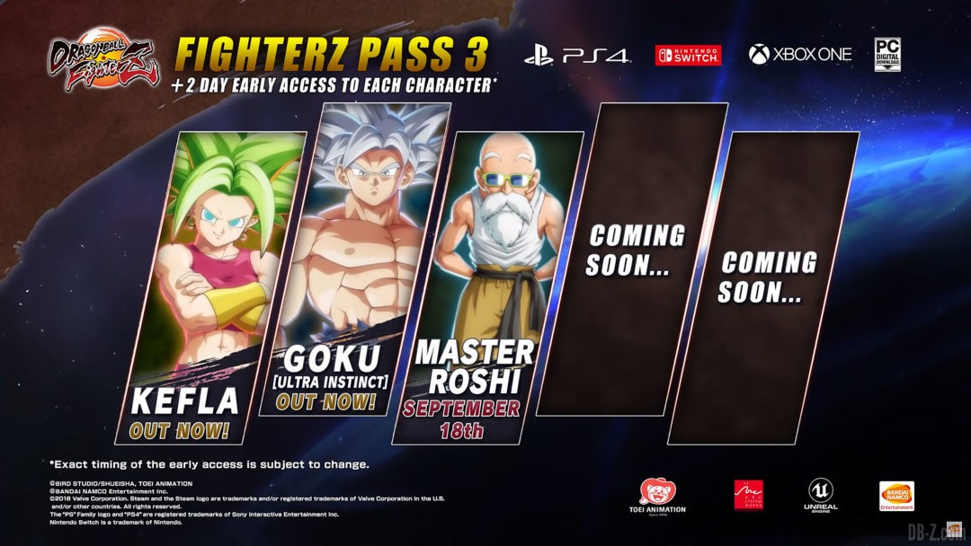 FighterZ Pass 3 incomplet