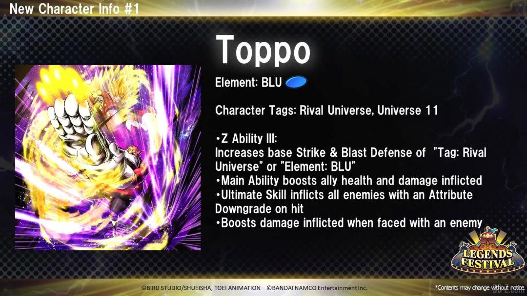 Toppo Bleu Dragon Ball Legends