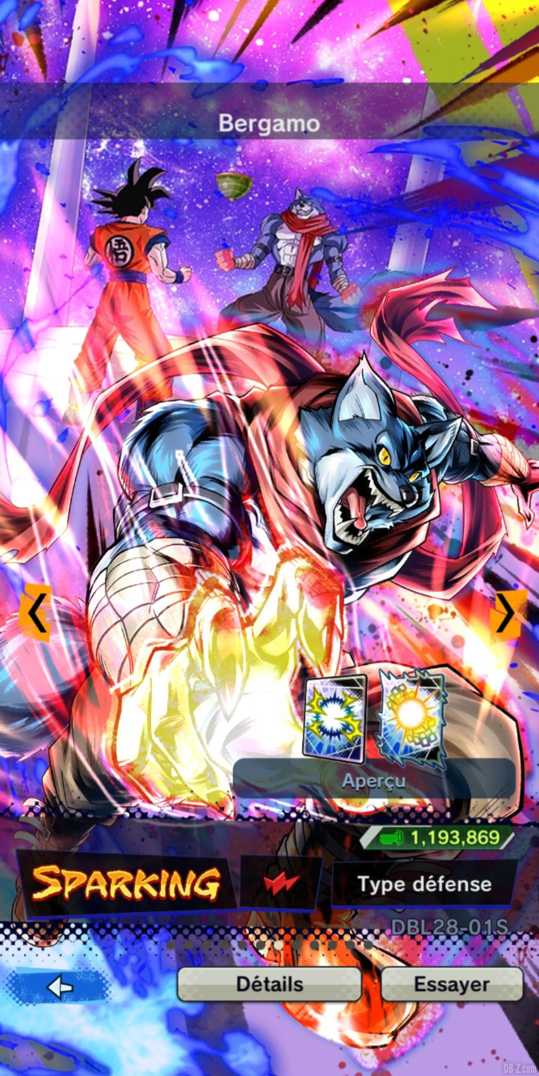Dragon Ball Legends Bergamo ROUGE Energie
