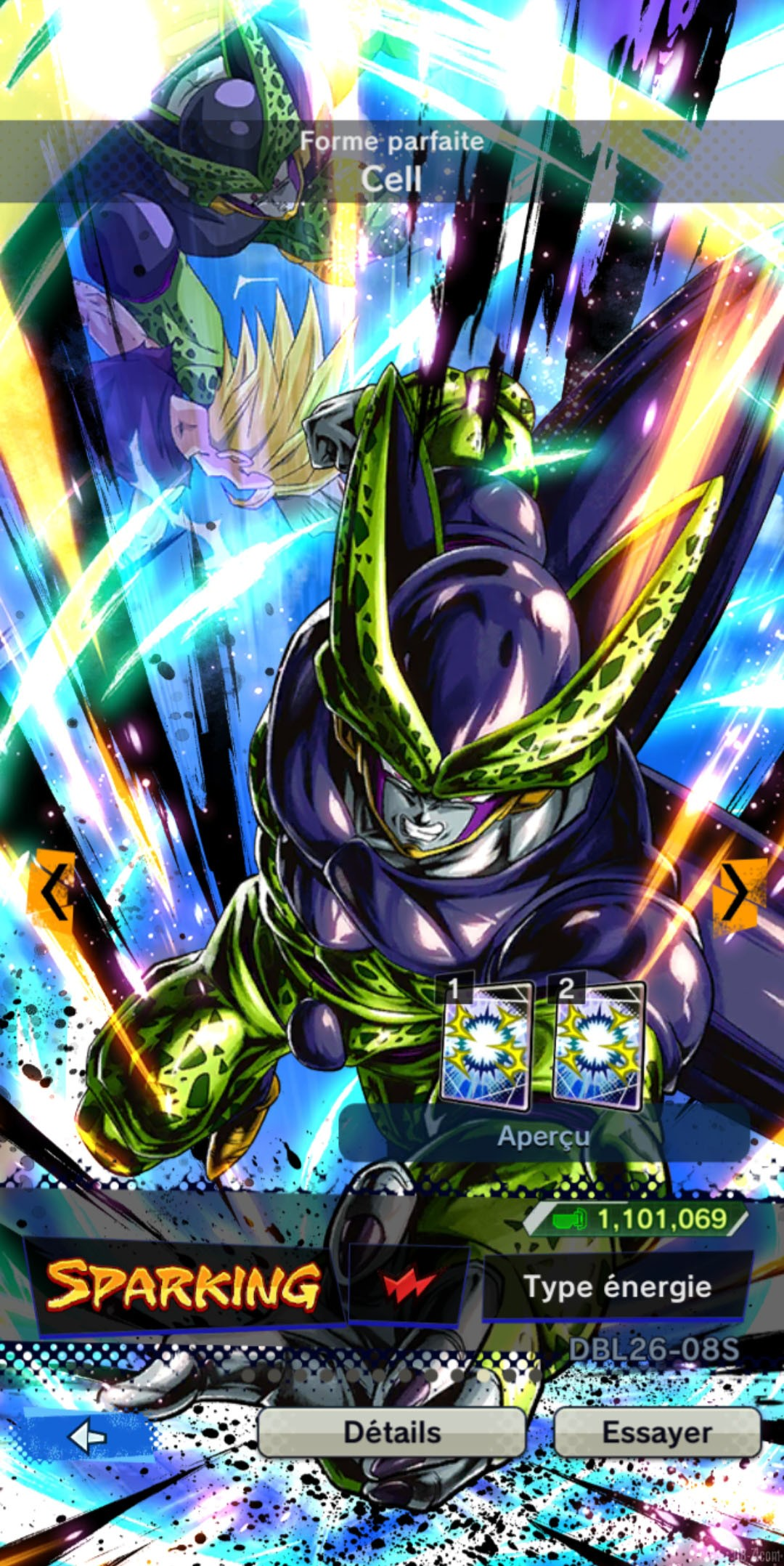 Dragon Ball Legends Cell ROUGE Energie